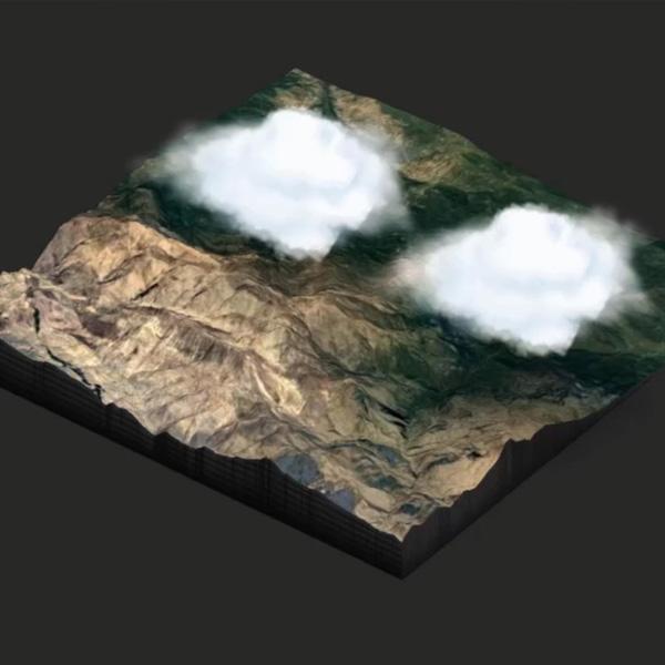 شبیه سازی سه بعدی مناظر طبیعی در نرم افزار فتوشاپ