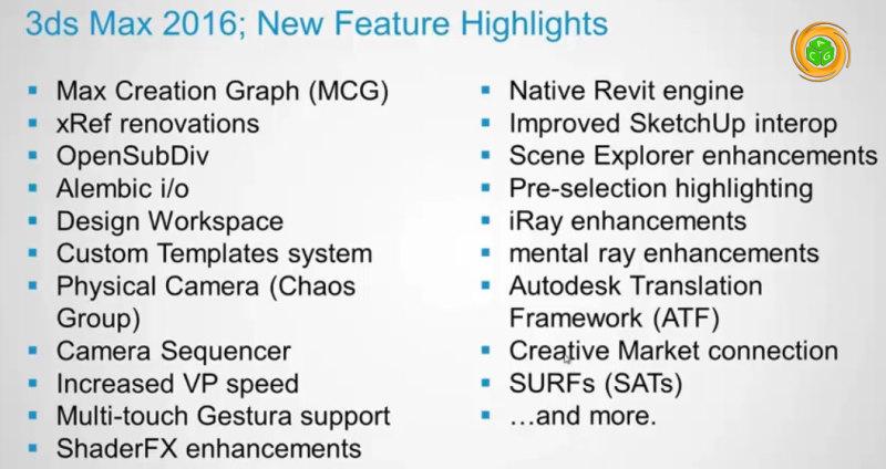 ویژگی های جدید تریدی اس مکس 2016 - 3Ds Max 2016_New Feature Highlights
