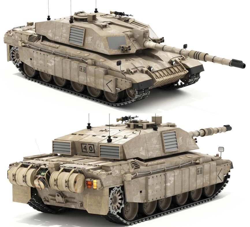 دانلود مدل سه بعدی (Challenger II British MBT (Main Battle Tank
