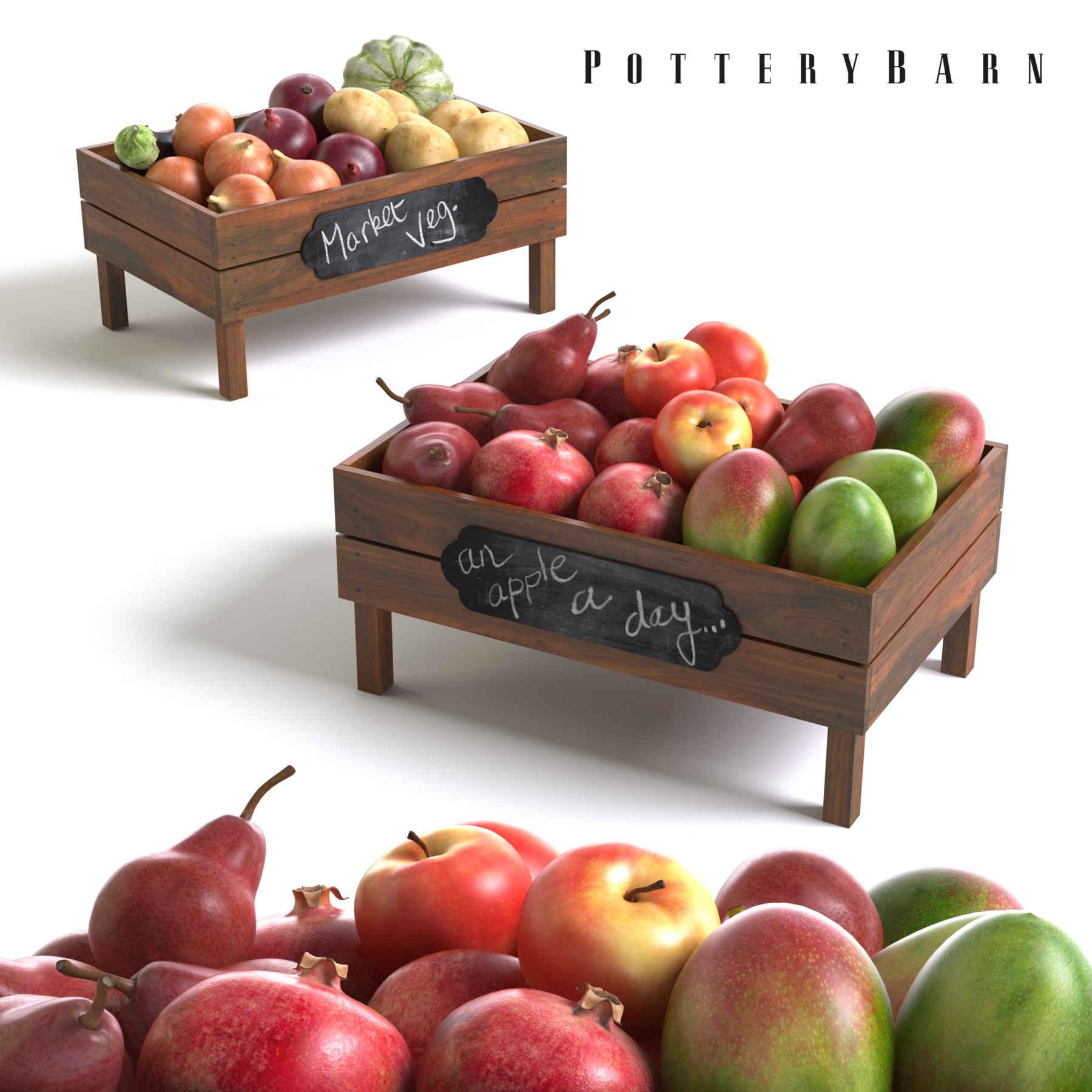 مدل سه بعدی میوه و سبزیجات  Fruit-and-Vegetable