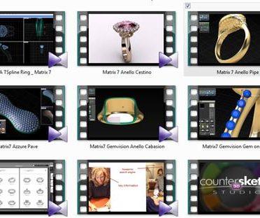 آموزش نرم افزار ماتریکس Gemvision.Matrix7 tutorials