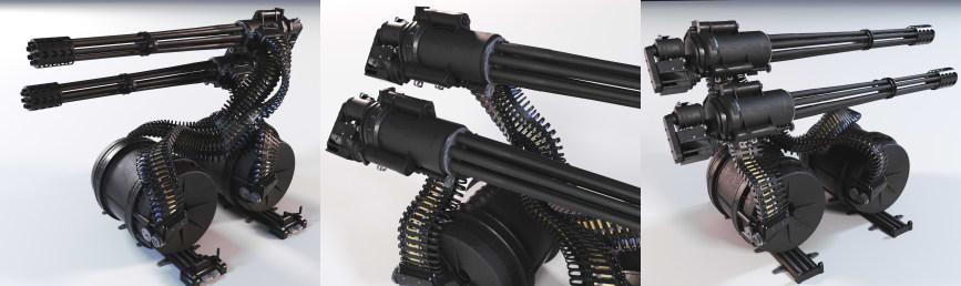 مدل سه بعدی اسلحه Gua - 8 Avanger Gun