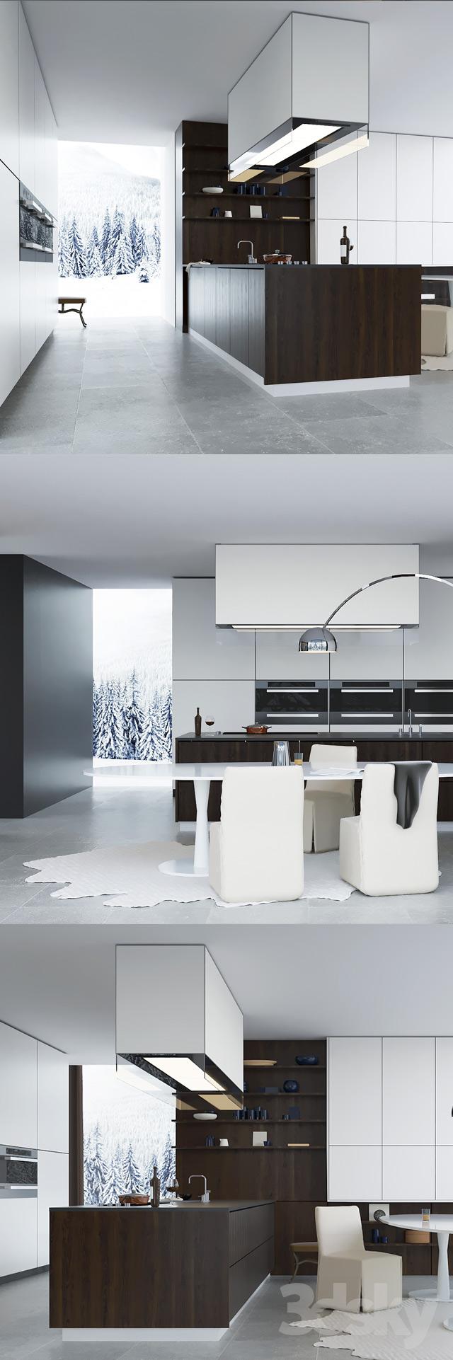 دانلود مدل سه بعدی با موضوع طراحی آشپزخانه