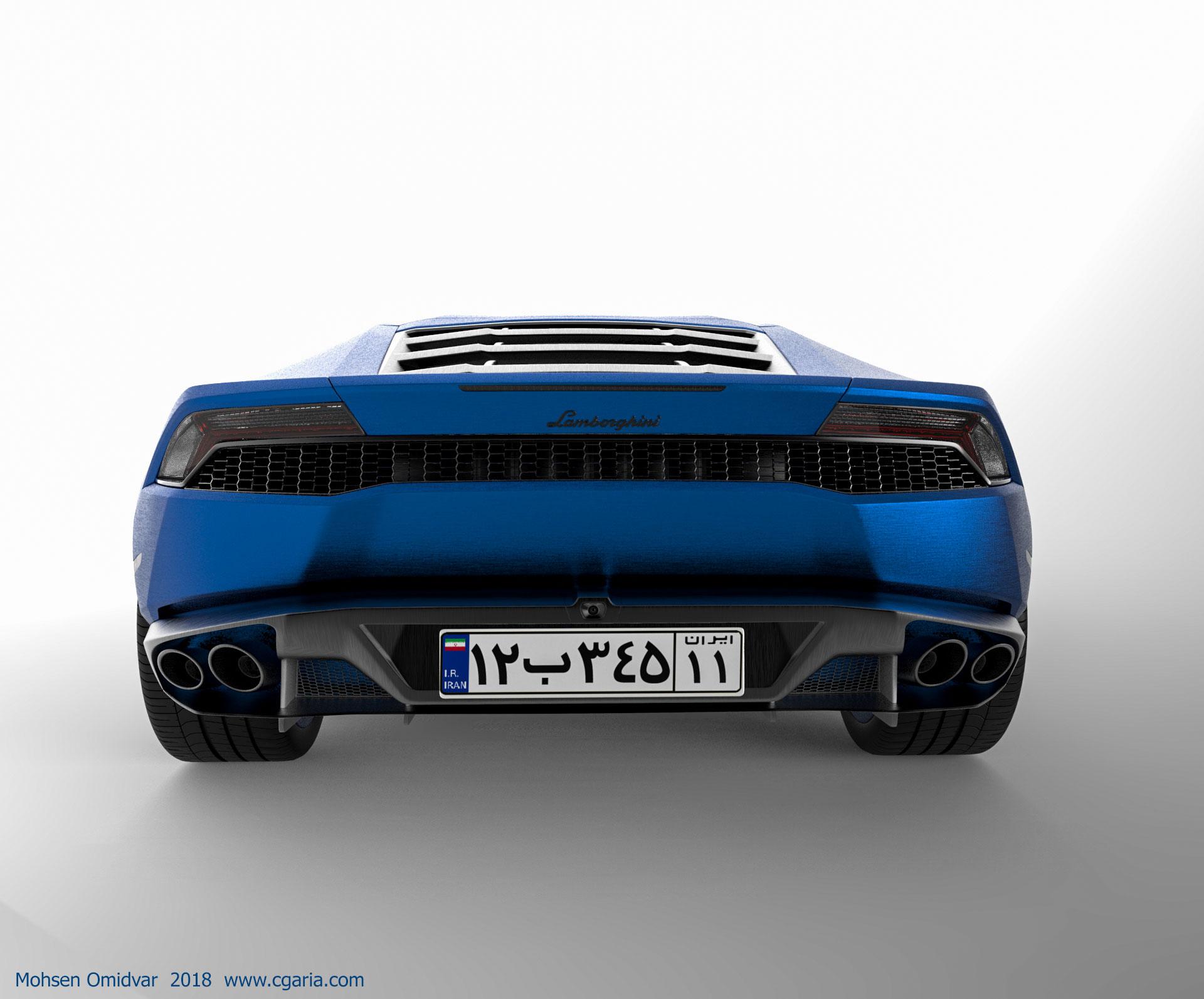 دانلود مدل سه بعدی لامبورگینی هوراکان Lamborghini Huracan