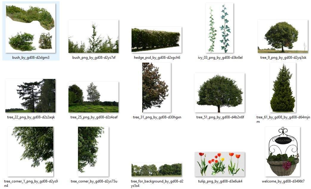 مدلهای درخت،گل و گیاهان با فرمت های سه بعدی و دوبعدی