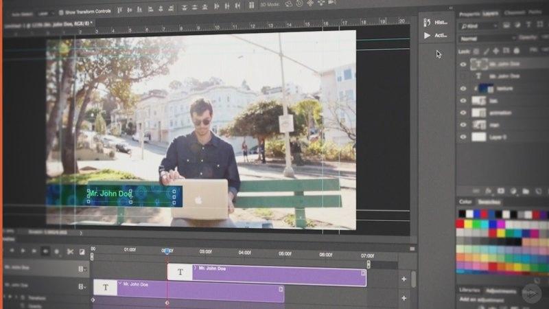 آموزش ویرایش ویدئو در فتوشاپ