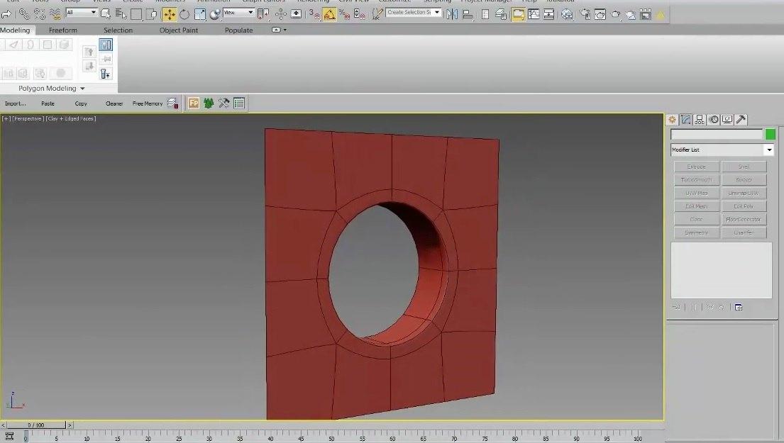 ترفند ایجاد سوراخ دایره ای با سه روش متفاوت در تریدی اس مکس