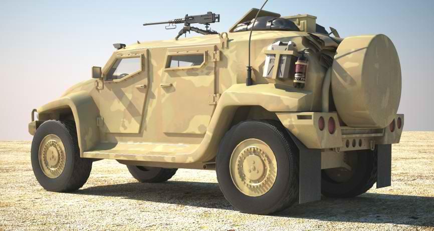 دانلود مدل سه بعدی Hawkei Australian ADF light armoured patrol vehicle